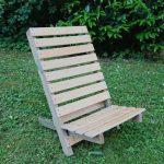 Stuhl aus Lattenrost